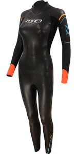 2021 Zone3 Traje De Neopreno De Triatlón De 3/2 3/2mm Braza De Aspecto Para Mujer Ws21wap - Negro / Azul / Naranja
