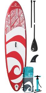 2021 Spinera Supventure 10'6 Opblaasbaar SUP Stand Up Paddle Board , Tas, Pomp & Peddel - Rood