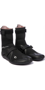 2020 Rip Curl Flashbomb 5mm Hidden Split Toe Boots WBO7IF - Black