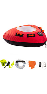 2021 Jobe Thunder 1 Person Towable Package 238820002 - Red