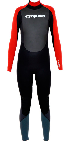 2018 Typhoon Junior Storm Traje de neopreno de 5/4/4 mm en negro / rojo 250603
