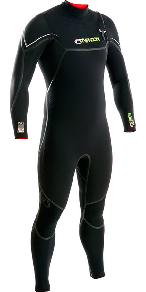 2018 Typhoon Kona 5/4 / 3mm GBS Chest Zip Wetsuit NEGRO 250610