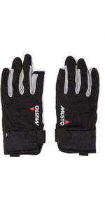 2019 Musto Essential Sailing 3 Finger Gloves AUGL002 - Black