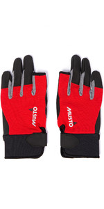 2019 Musto Essential Sailing Long Finger Gloves AUGL002 - Red