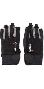 2020 Musto Essential Sailing Short Finger Gloves Augl003 - Zwart