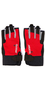 2019 Musto Essential Sailing Short Finger Gloves Augl003 - Rood