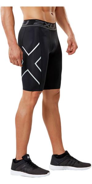 2018 2XU Aceleración pantalones cortos de compresión NEGRO MA4478b