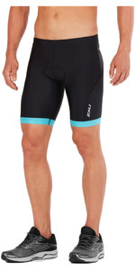 2018 2XU Active Tri Shorts BLACK / RETRO DRESDEN BLUE MT4864b