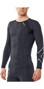2018 2XU Compression Long Sleeve Top BLACK MA2308A