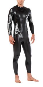 2019 2xu Heren P: 1 Propel Triathlon Wetsuit Zwart / Zilver Mw4991c