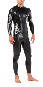 2019 2XU Mens P:1 Propel Triathlon Wetsuit BLACK / SILVER MW4991c