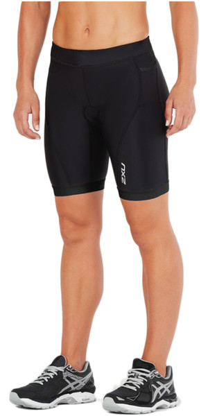 "2018 2XU Womens Active 7 ""Tri Shorts NERO / NERO WT4868b"