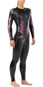 2019 2xu Vrouwen T: 1 Propel Triathlon Wetsuit Zwart / Roze Pauw Ww4994c