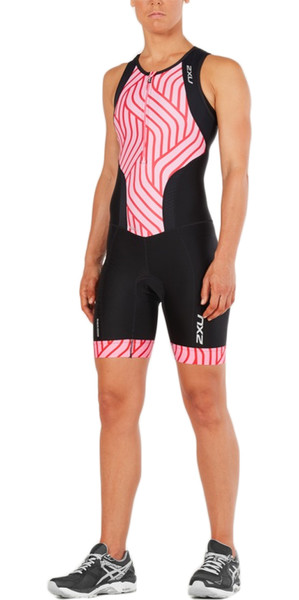 2018 2XU Womens Perform Front Zip Trisuit NOIR / Rose ROSE MARRON WT4855d