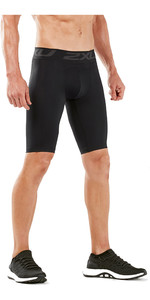 2019 2xu Mænds Accelerate Comp Shorts Sort / Sølv Ma5407b