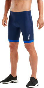 2019 2XU Mens Active Tri Shorts Navy / Lapis Blue Print MT4864b