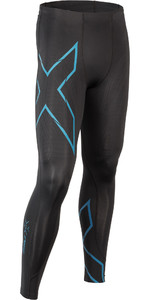 2019 2XU Mens MCS Run Compression Tights Black / Corsair MA5305b