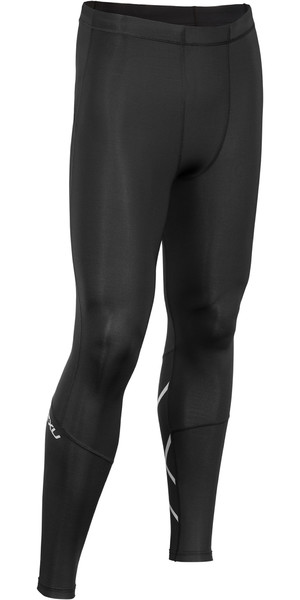 2019 2XU Mens Run Compression Tights Black / Silver MA5304b