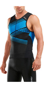 2019 2XU Perform Tri Singlet Black / Blue Signal MT5530a