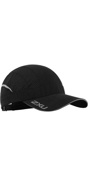2019 2XU Quick Dry Vented Run Cap Black UQ5697f