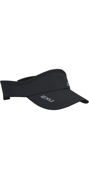 2019 2XU Run Visor Black UQ5686f