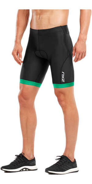 2018 2XU Active Tri Shorts NEGRO / JOLLY GREEN MT4864b