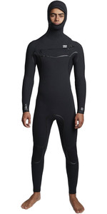 2019 Billabong Mens Furnace Carbon Ultra 6/5mm Hooded Chest Zip Wetsuit Black Q46M01