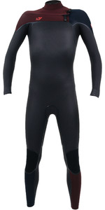 2020 O'Nill Youth Psycho One 4/3mm Wetsuit Met Chest Zip Raven / Weduwe 4968