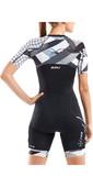 2021 2xu Damen Kompressions Kurzarm Trisuit Wt5521d - Schwarz / Chromat