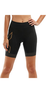 2020 2XU Womens Compression Tri Shorts WT5524B - Black / Gold