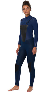 2020 Animal Frauen Lava 4/3mm Chest Zip Neoprenanzug Aw0ss300 - Dunkle Navy