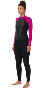 2020 Animal Womens Nova 3/2mm Back Zip Wetsuit AW0SS302 - Black
