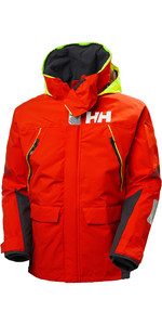 2020 Helly Hansen Mens Skagen Offshore Sailing Jacket 33907 - Cherry Tomato