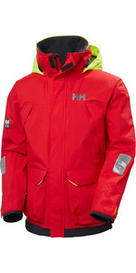 2020 Helly Hansen Mens Pier Sailing Jacket 34156 - Alert Red
