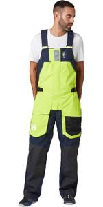 2020 Helly Hansen Pantalones De Babero Para Hombre Skagen Offshore 33908 - Azid Lime