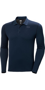 2020 Helly Hansen Lifa Active Solen Langarm Polo 49351 - Navy