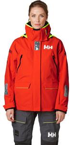 2020 Helly Hansen Frauen Skagen Offshore Segeljacke 33920 - Kirschtomate