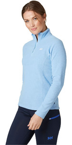 2020 Helly Hansen Frauen Daybreaker 1/2 Zip Fleece 50845 - Coast Blau