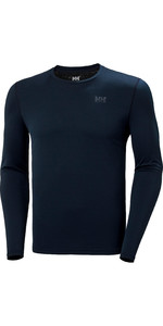 2020 Helly Hansen Uomo Lifa Active Solen Top Manica Lunga 49348 - Navy Scuro