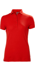 2020 Helly Hansen Womens Crewline Polo Shirt 53049 - Flag Red