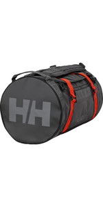 2021 Helly Hansen 50L Duffel Bag 2 68005 - Ebony / Cherry Tomato