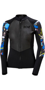 2020 Helly Hansen Womens 2mm Water Wear Neoprene Front Zip Jacket 34020 - Black