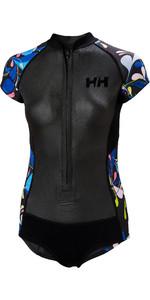 2020 Helly Hansen Womens Water Wear 2mm Neoprene Swim Suit 34022 - Black