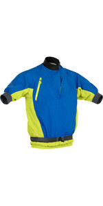 2021 Palm Mens Mistral Short Sleece Kayak Jacket 12508 - Cobalt / Citrus