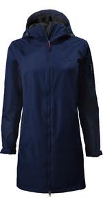 2020 Musto Sardinia Long Rain Jacket 82022 Para Mujer - Navy