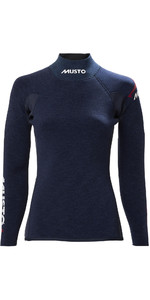 2020 Musto Donna In Alluminio 2.5mm Top In Neoprene 80923 - Mezzanotte