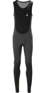 2020 Musto Men Foiling Thermocool 1.5mm Impact Long John Wetsuit 80879 - Cinza Escuro / Preto