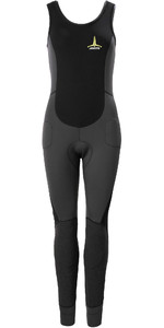 2020 Musto Thermocool Frustrante Para Mujer 1.5mm Mm Impact Long John Wetsuit 80926 - Gris Oscuro / Negro