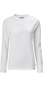 2020 Musto Womens Evolution Long Sleeve Sunblock Tee 2.0 81162 - White