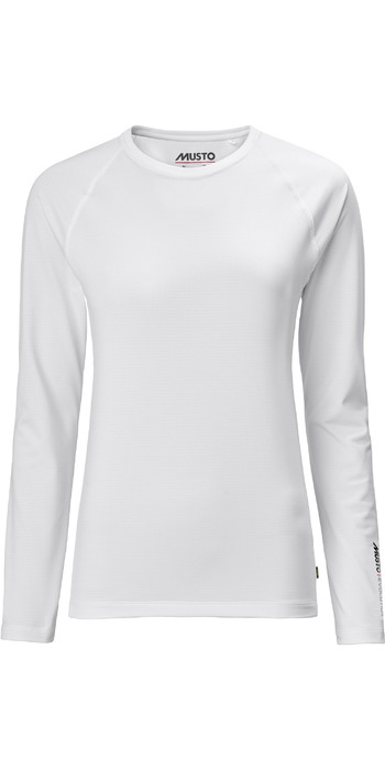 2021 Musto Frauen Evolution Langarm Sunblocker T-Shirt 2.0 81162 - Weiß
